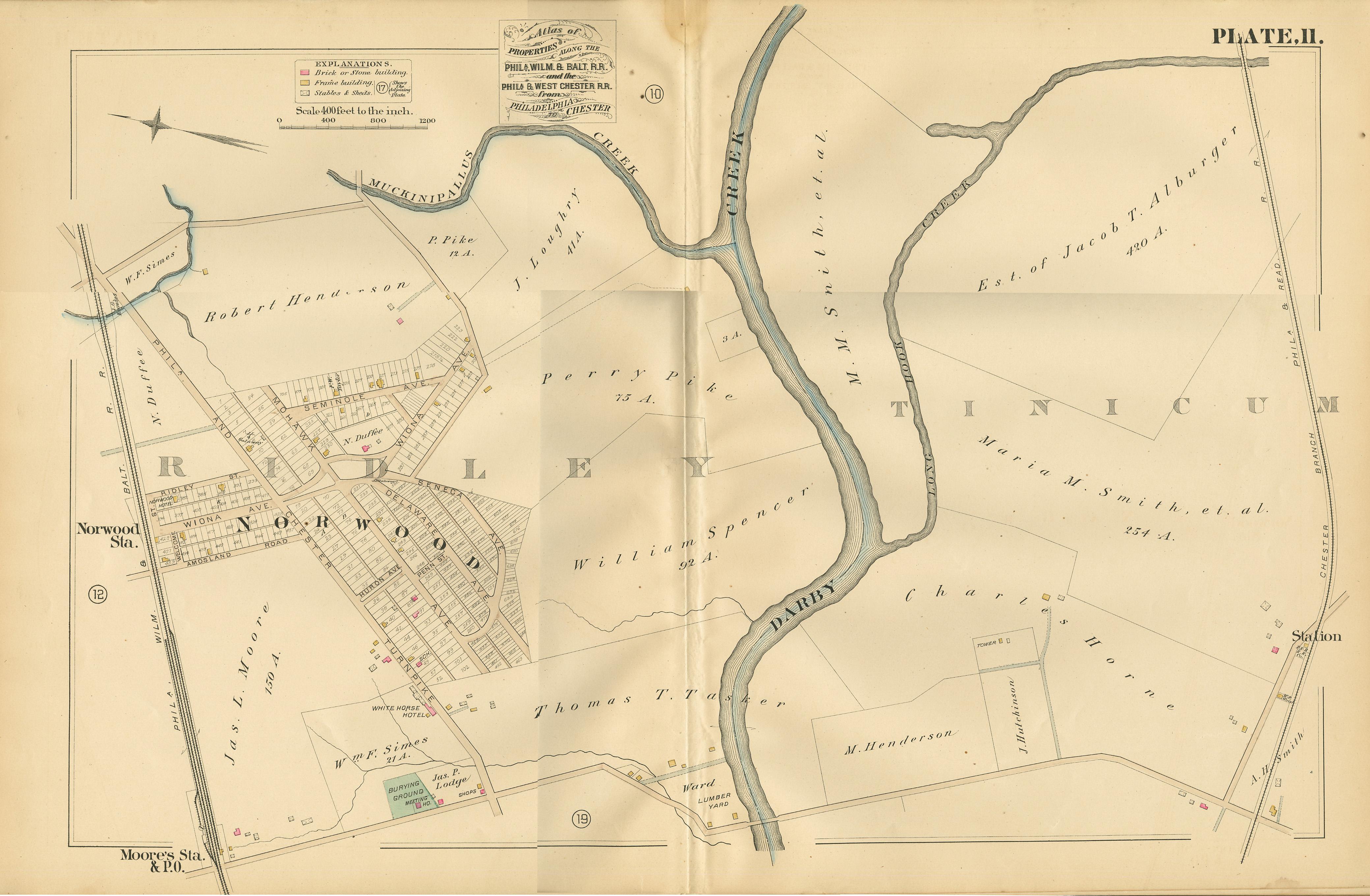 1882 Map of Norwood & Vicinitynorwood borough